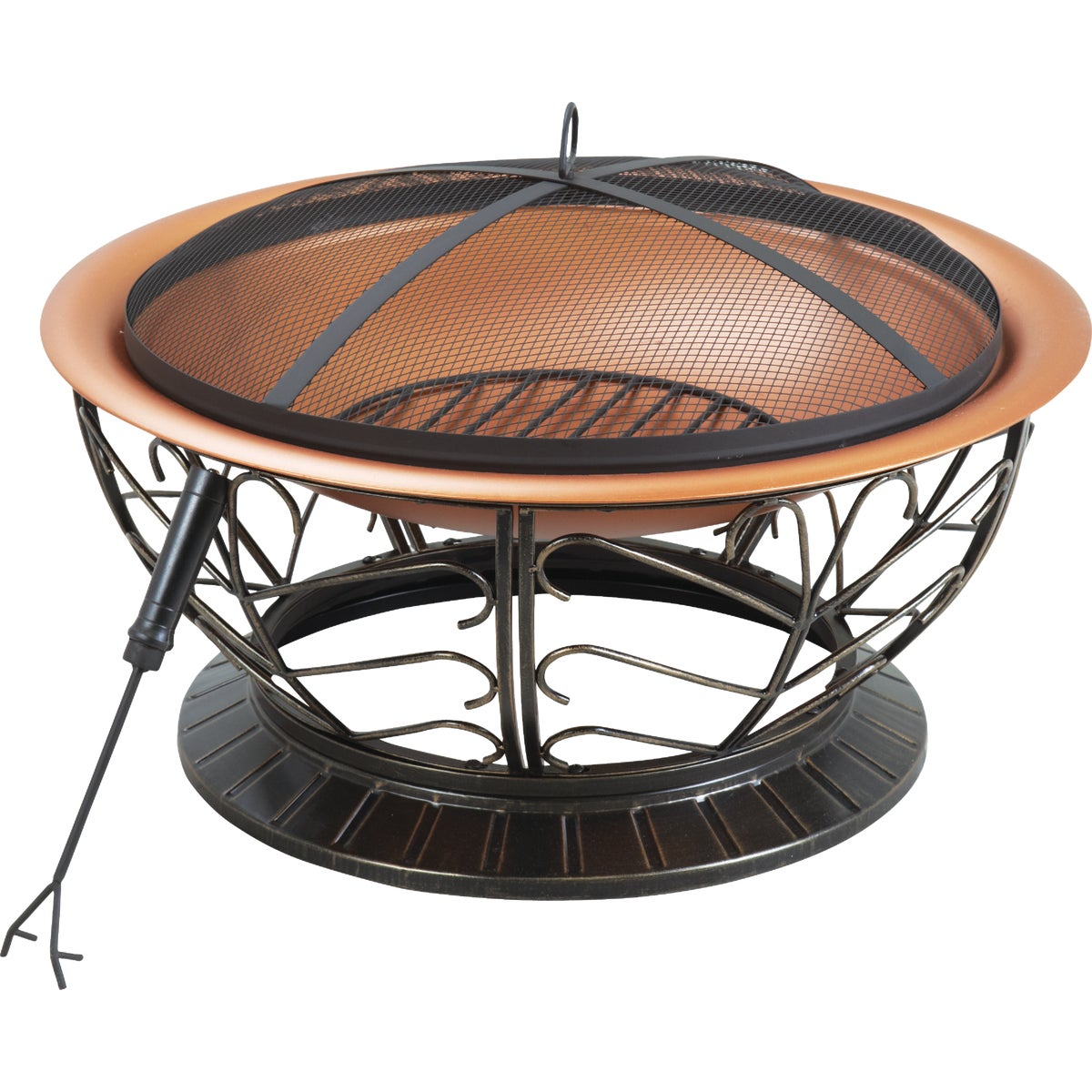 "30"" STEEL COPPER FIREPIT"
