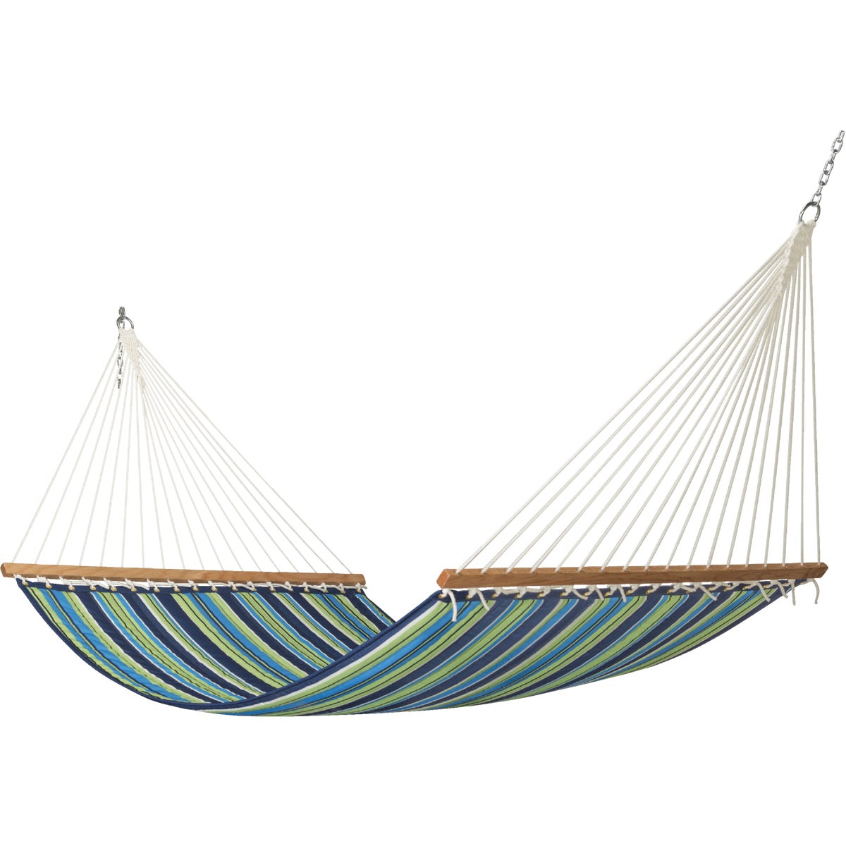 GRN STRIPE TEXT HAMMOCK - M1318G by The Hammock Source