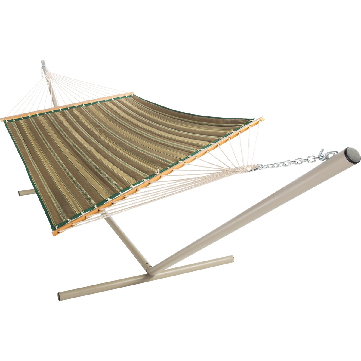 GRN/WHT QUILTED HAMMOCK
