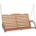 Hi-Back Porch Swing Seat With Chains