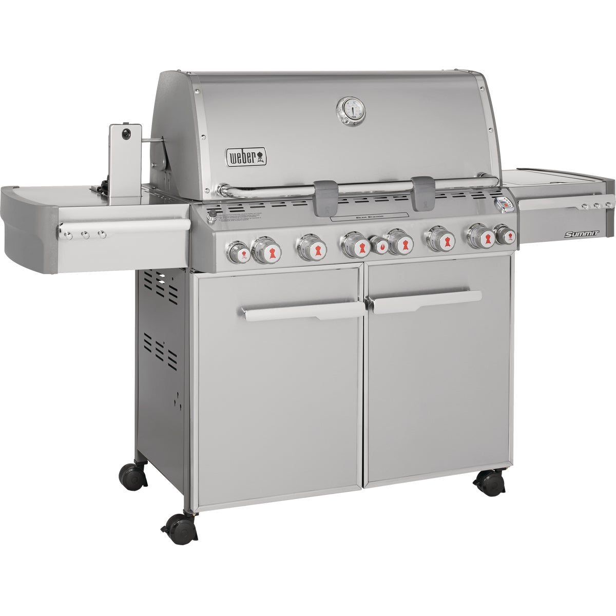 Weber-Stephen Genesis Summit S-670 Stainless Steel Gas Grill 7370001 at Sears.com