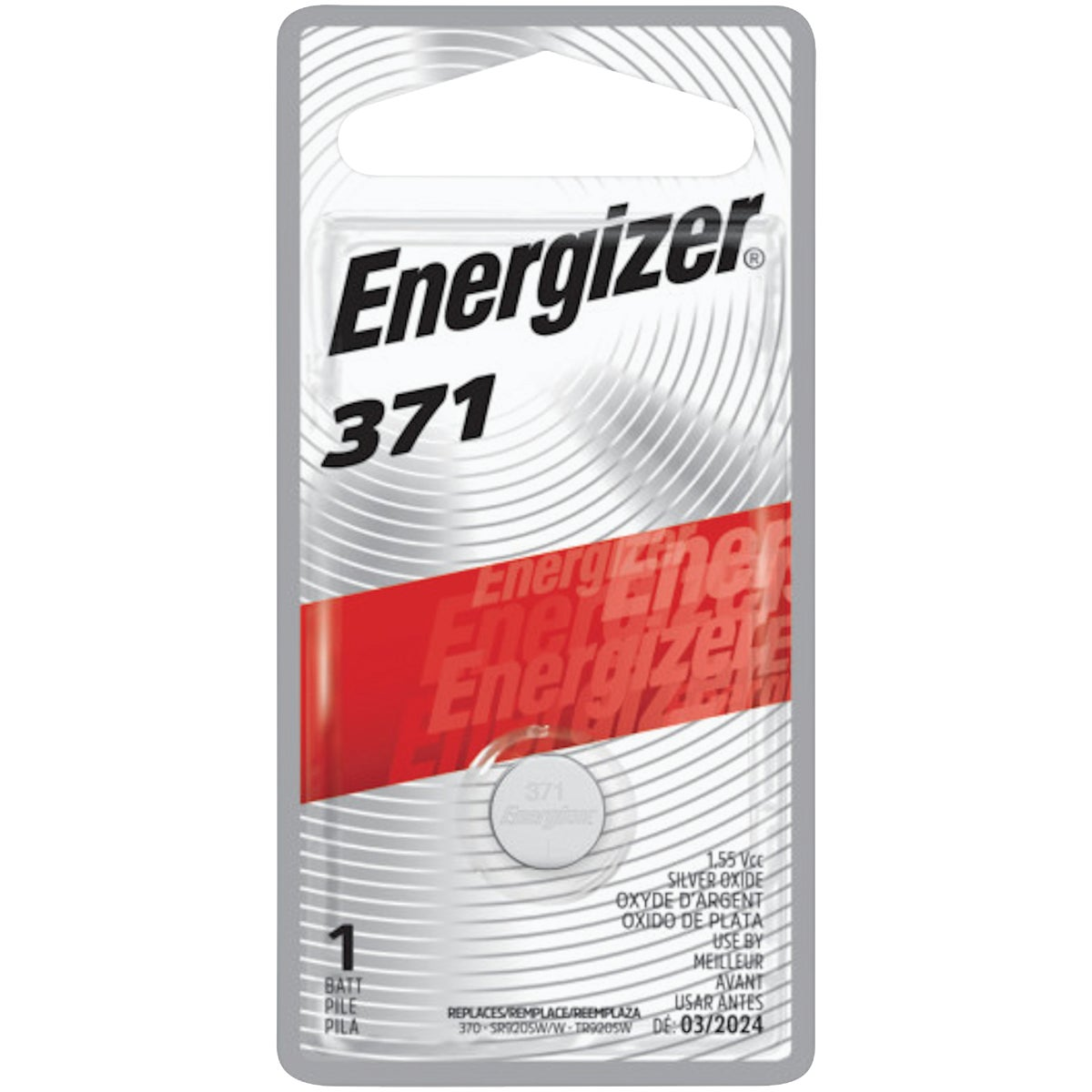 1.5V WATCH BATTERY - 371BPZ by Energizer