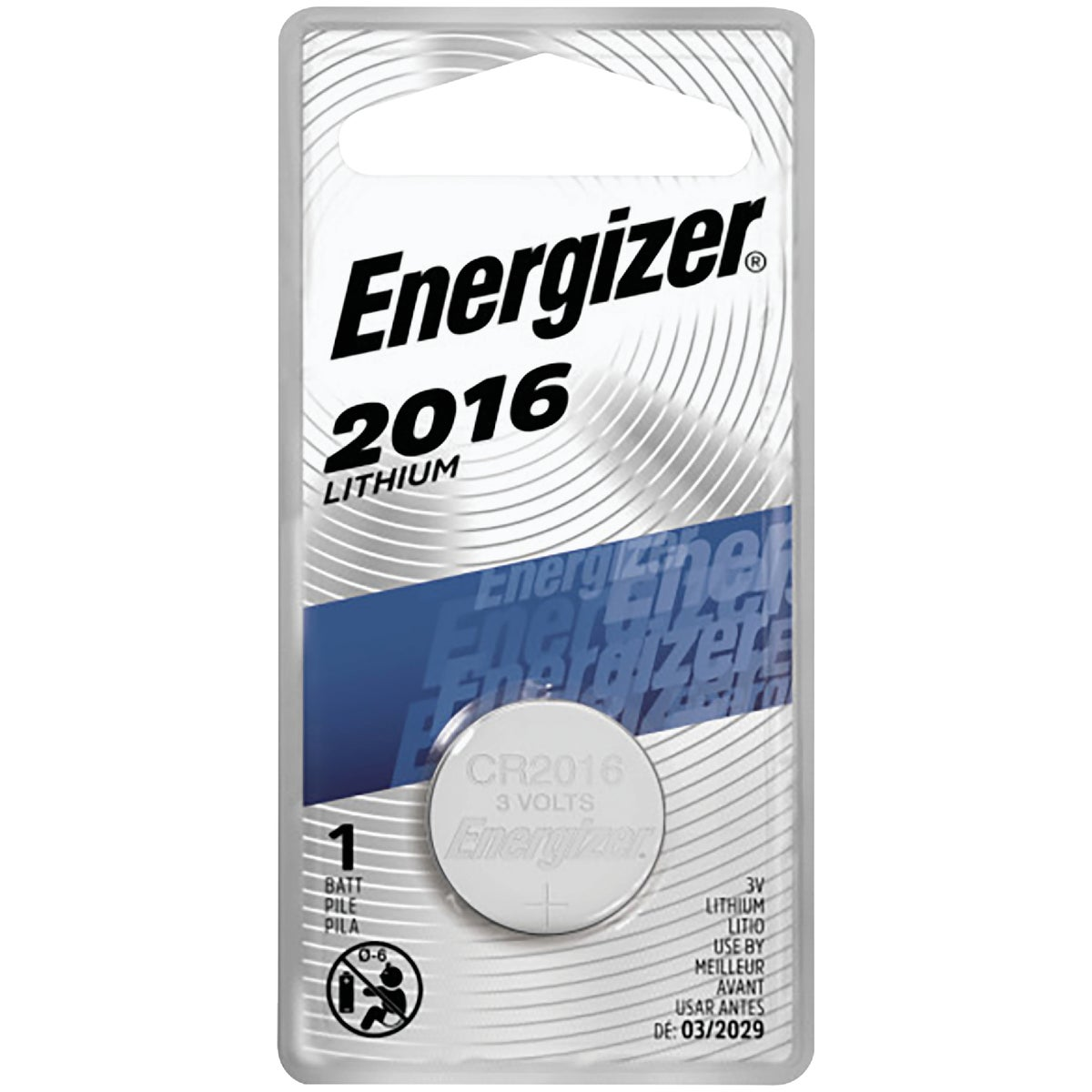 3V LITHIUM BATTERY - ECR2016BP by Energizer