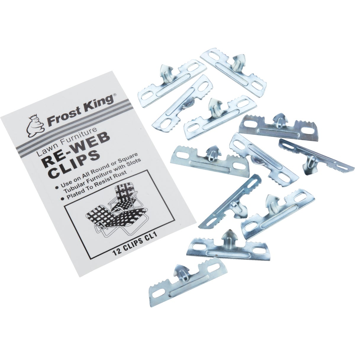 12PK REWEBBING CLIPS - CL1 by Thermwell Prods Co