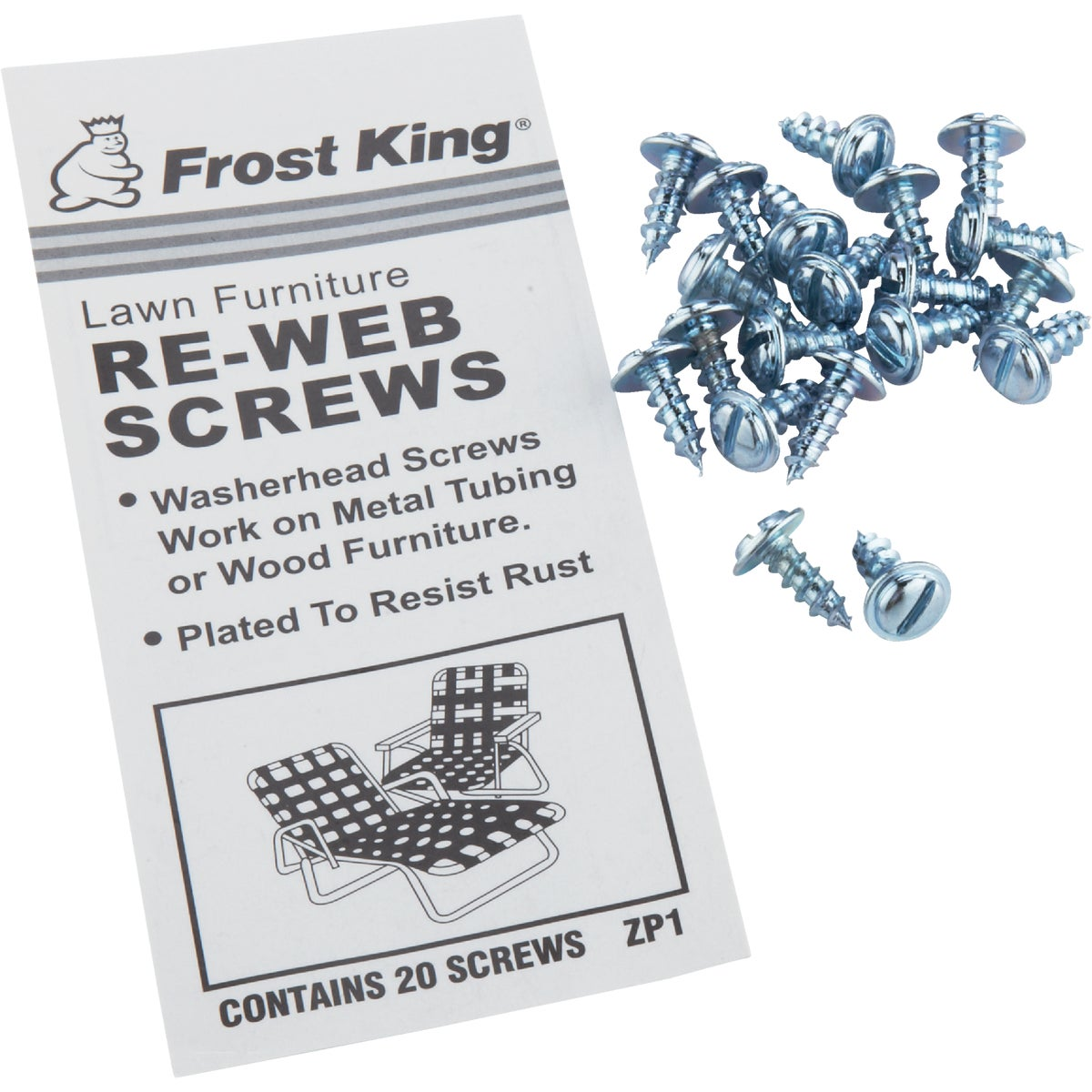 20PK REWEBBING SCREWS - ZP1 by Thermwell Prods Co