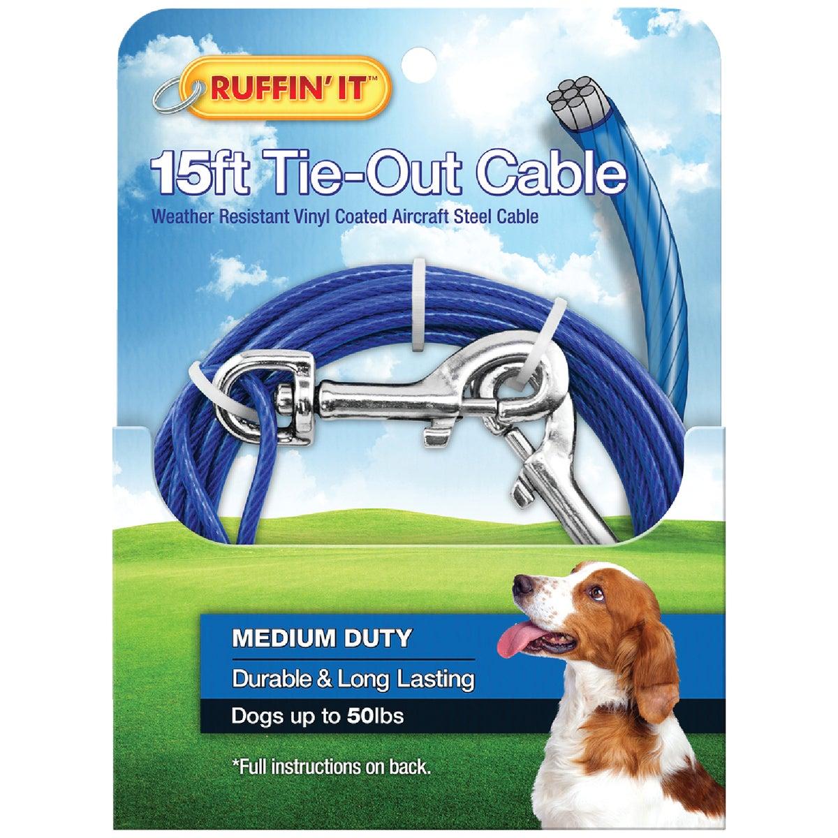 15' BLU LW Dog Tieout