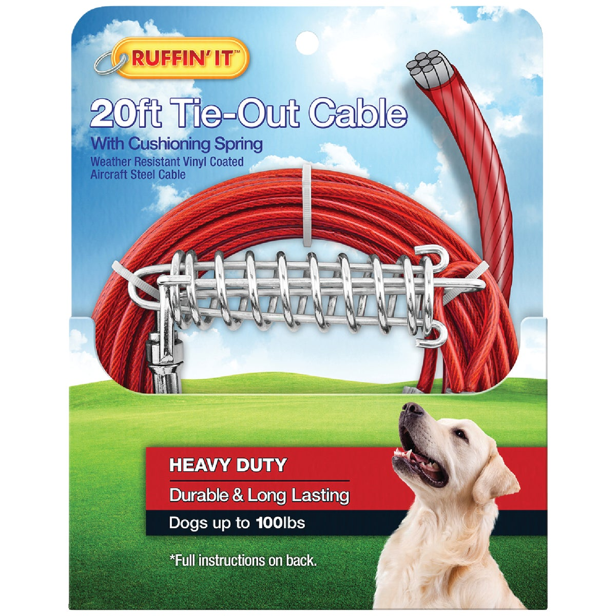 20' TIE-OUT CABLE