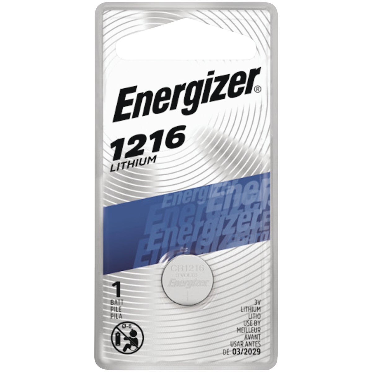 3V LITHIUM BATTERY - ECR1216BP by Energizer