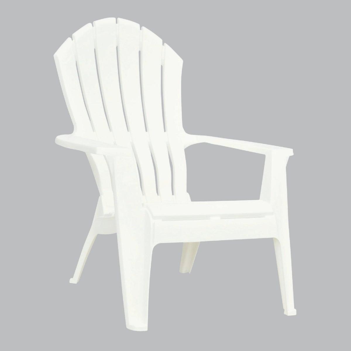 Adams Mfg./Patio Furn. WHITE ERGO ADIRON CHAIR 8371-48-3700