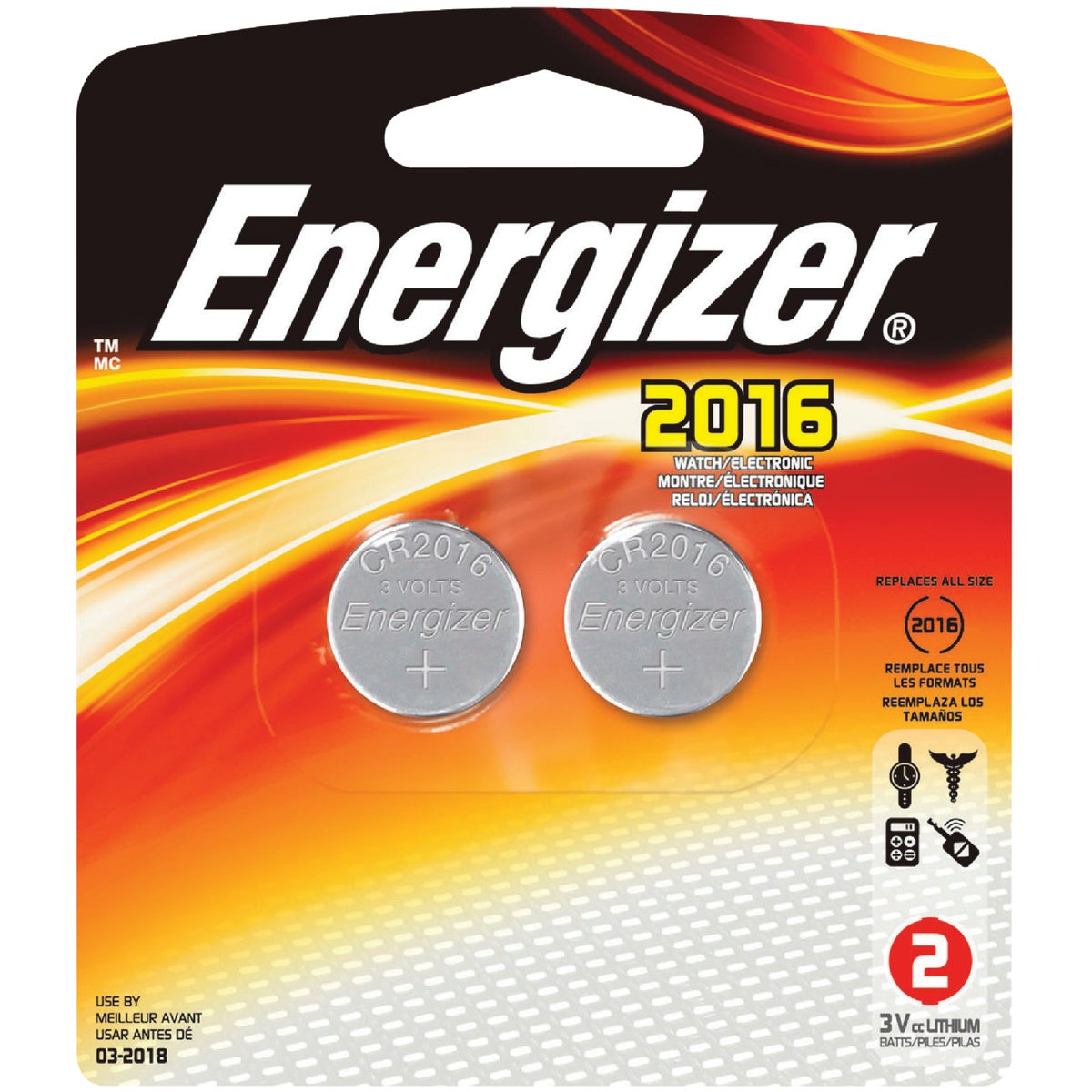 LITHIUM WATCH BATTERY - 2016BP-2 by Energizer