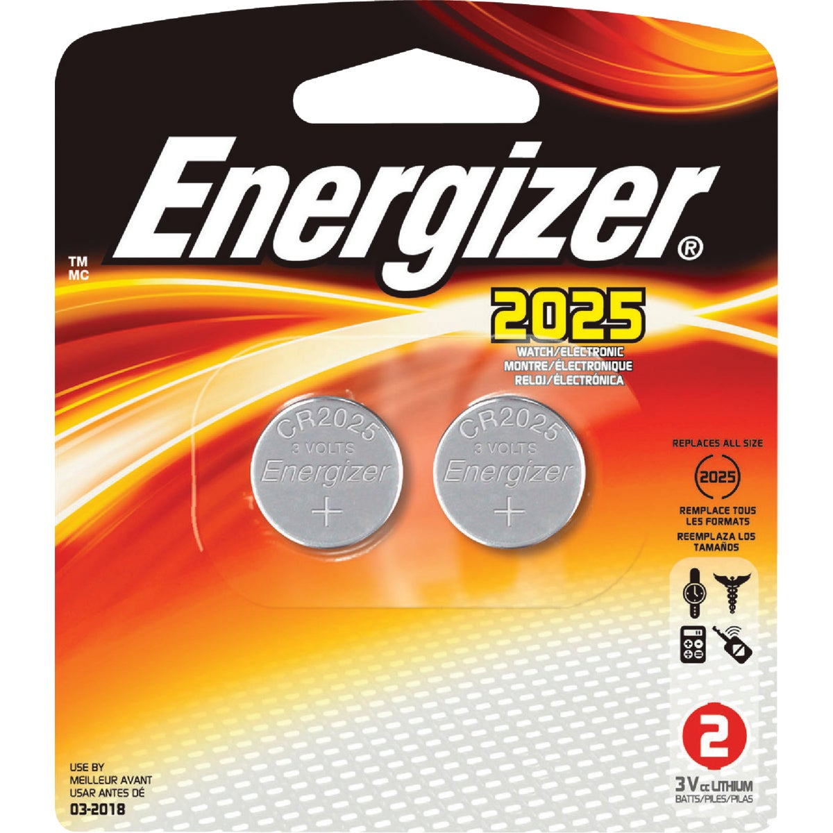 LITHIUM WATCH BATTERY - 2025BP-2 by Energizer