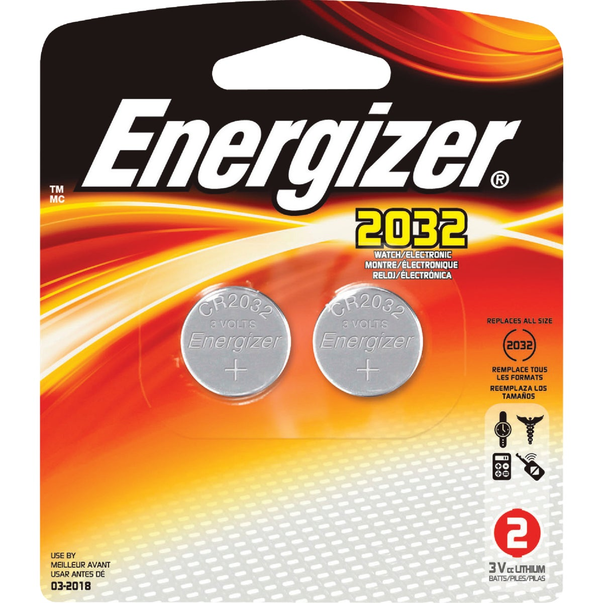 LITHIUM WATCH BATTERY - 2032BP-2 by Energizer
