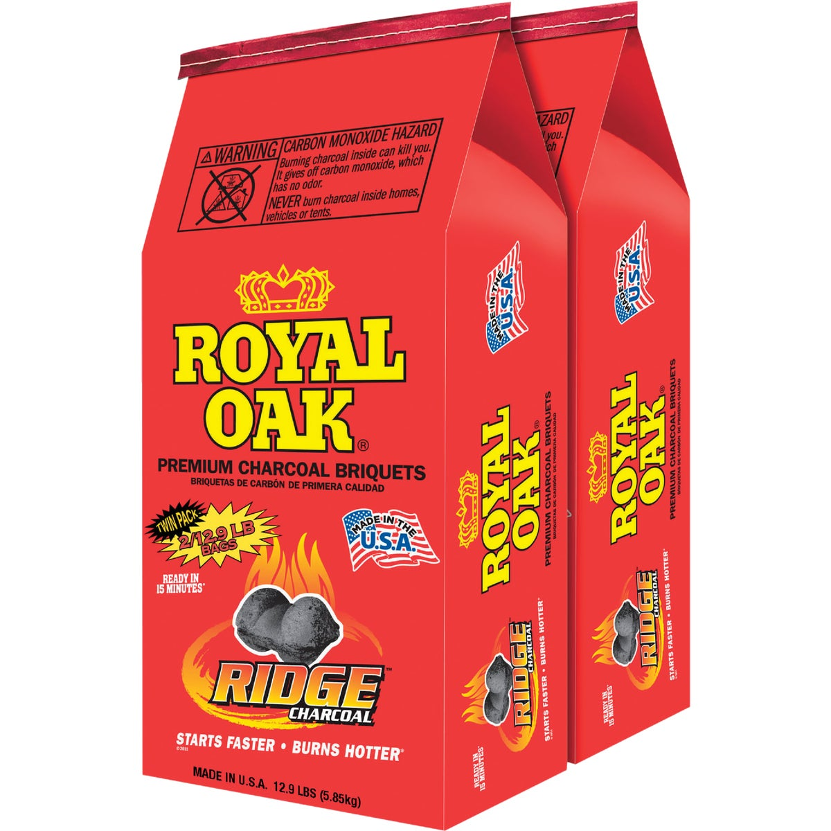2PK 13.9LB REG CHARCOAL - 192-294-249 by Royal Oak