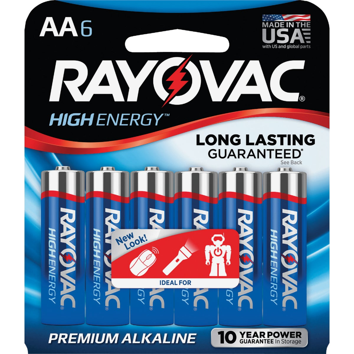 6PK AA ALKALINE BATTERY - 815-6F by Ray O Vac