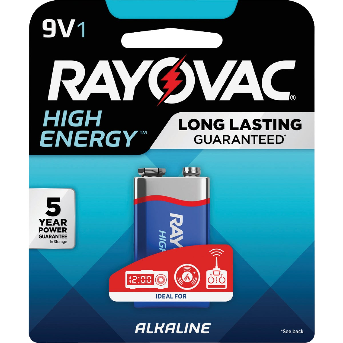 1PK 9V ALKALINE BATTERY - A1604-1F by Ray O Vac