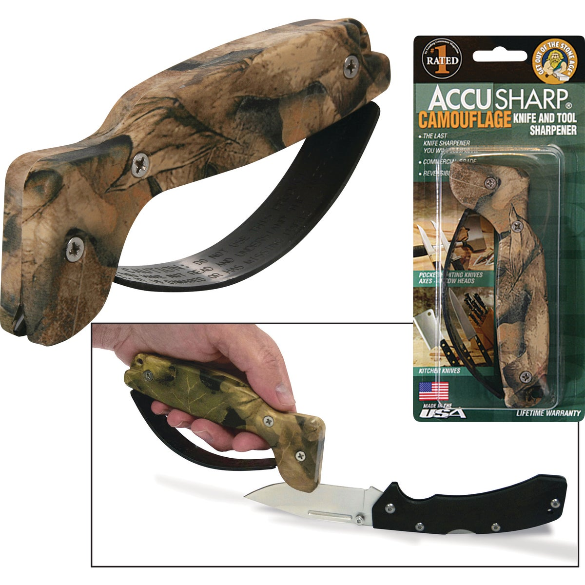 ACCUSHARP CAMO SHARPENER - 005C by Fortune Products Inc