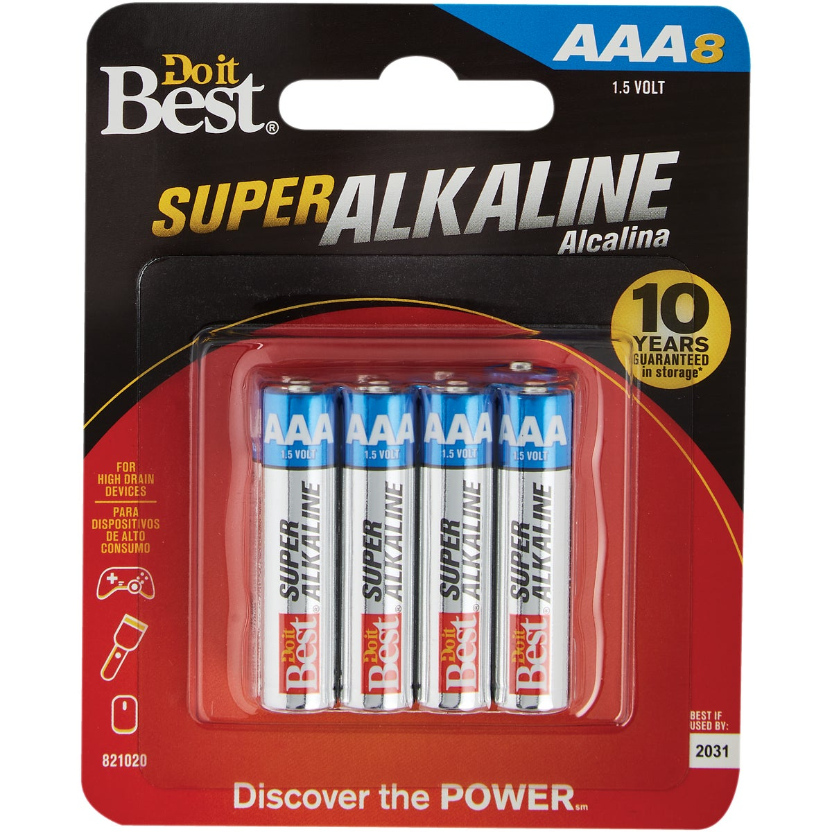 8PK AAA ALKALINE BATTERY - DIB824-8CF by Ray O Vac