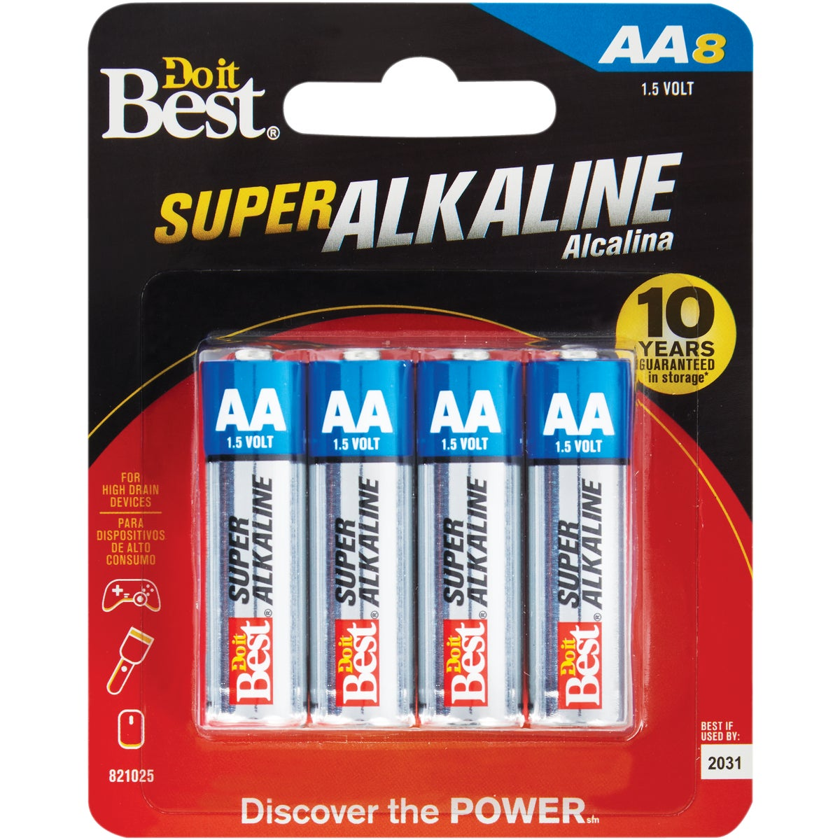 8PK AA ALKALINE BATTERY - DIB815-8CF by Ray O Vac