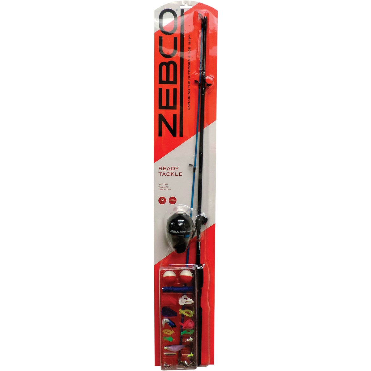 Zebco Corp. 10LB SPINCAST ROD & REEL RTSCK