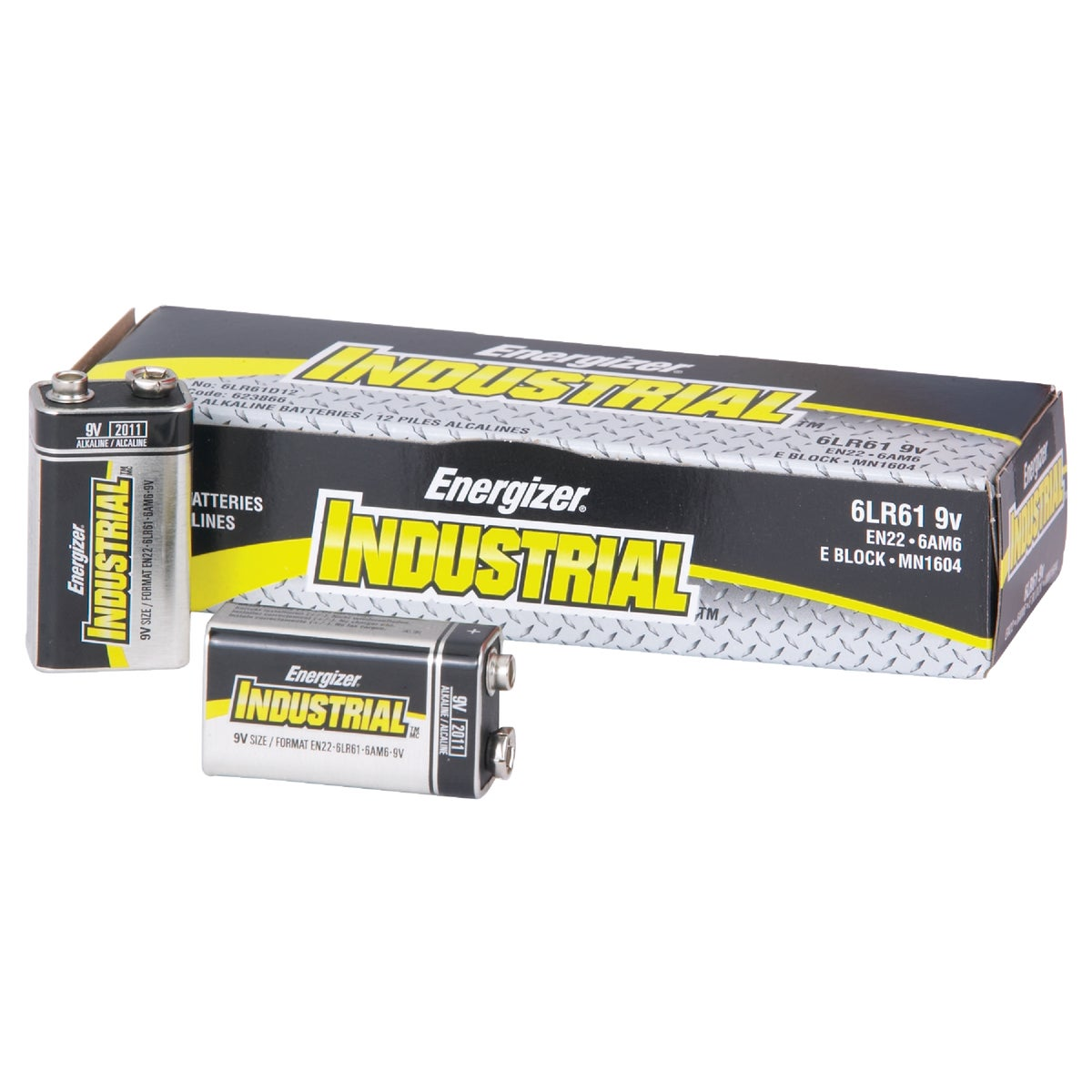 9V INDUSTRIAL BATTERY - EN22 by Energizer  Incom