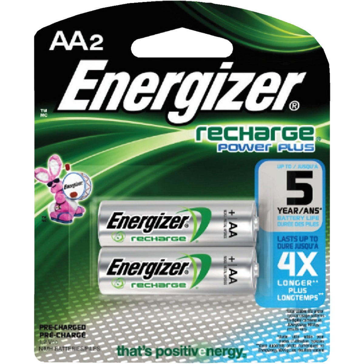 2CD AA RECHARGE BATTERY - NH15BP2 by Energizer