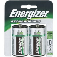 Energizer Recharge D Rechargeable Battery, NH50BP2(R2)