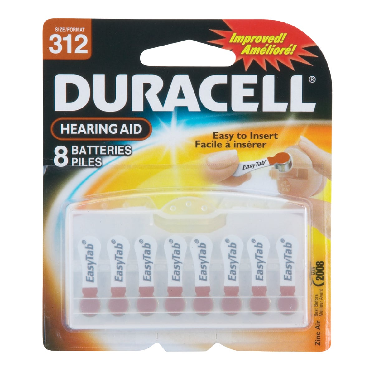 DA312 1.4V H AID BATTERY - 74387 by P & G  Duracell