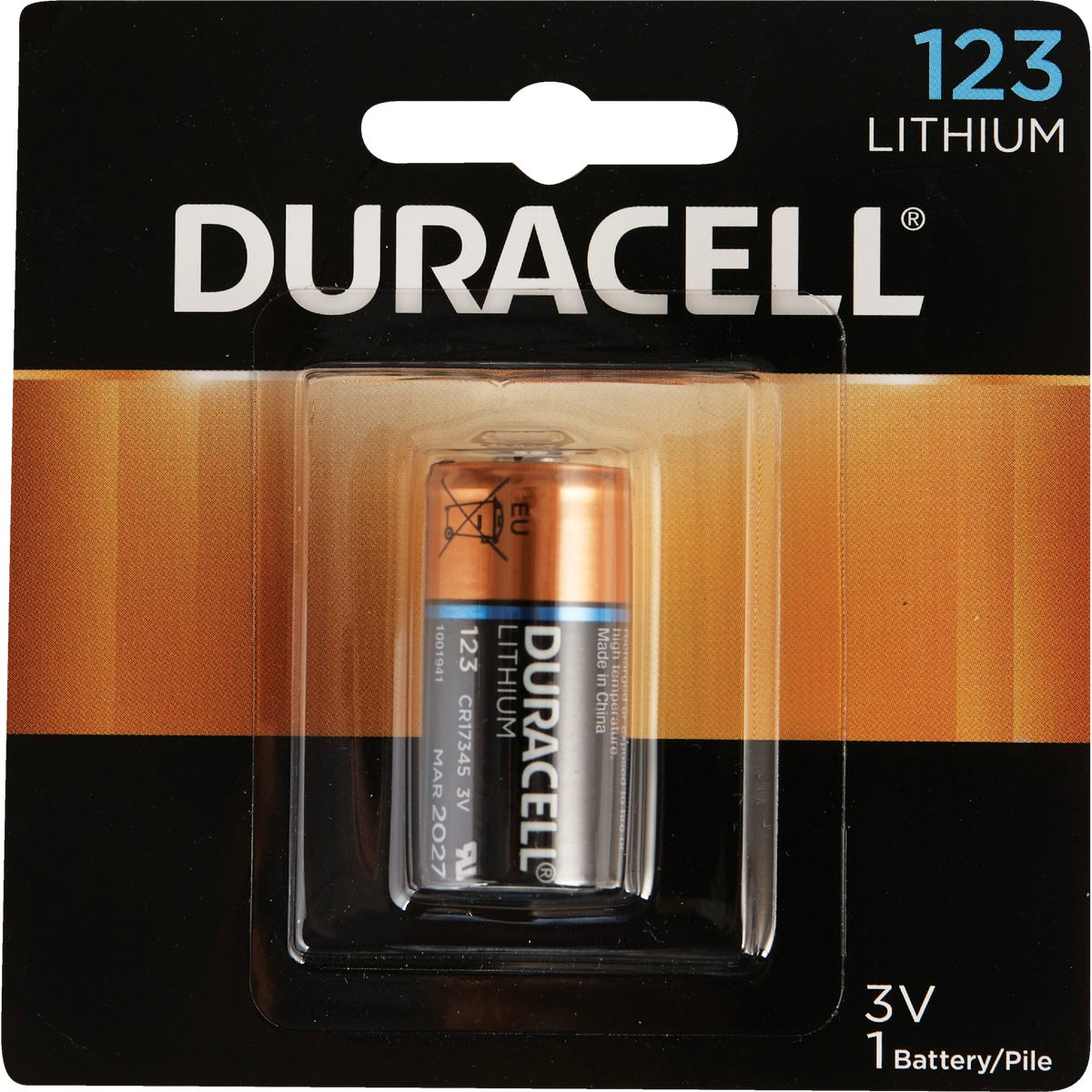 DL123 3V CAMERA BATTERY - DL123ABPK by P & G  Duracell