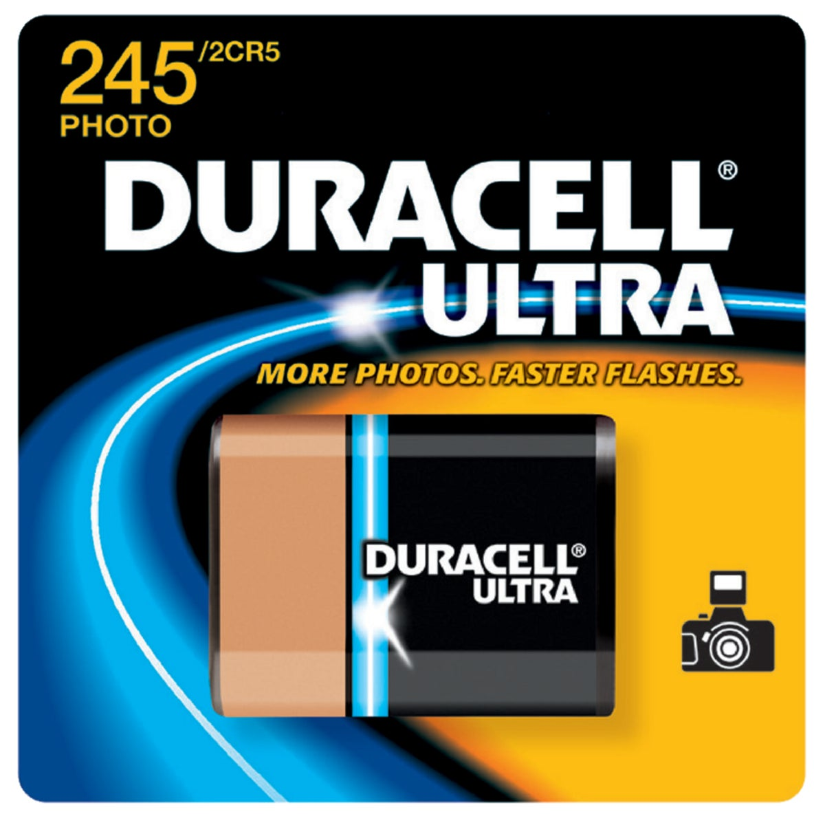 DL245 6V CAMERA BATTERY - 27587 by P & G  Duracell