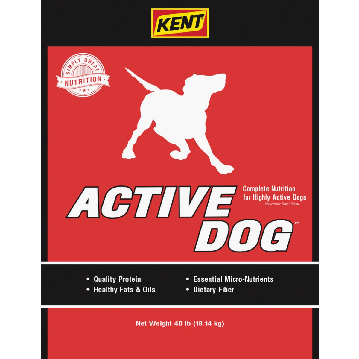 40LB ACTIVE DOG FOOD - 7888 by Kent Feeds Inc