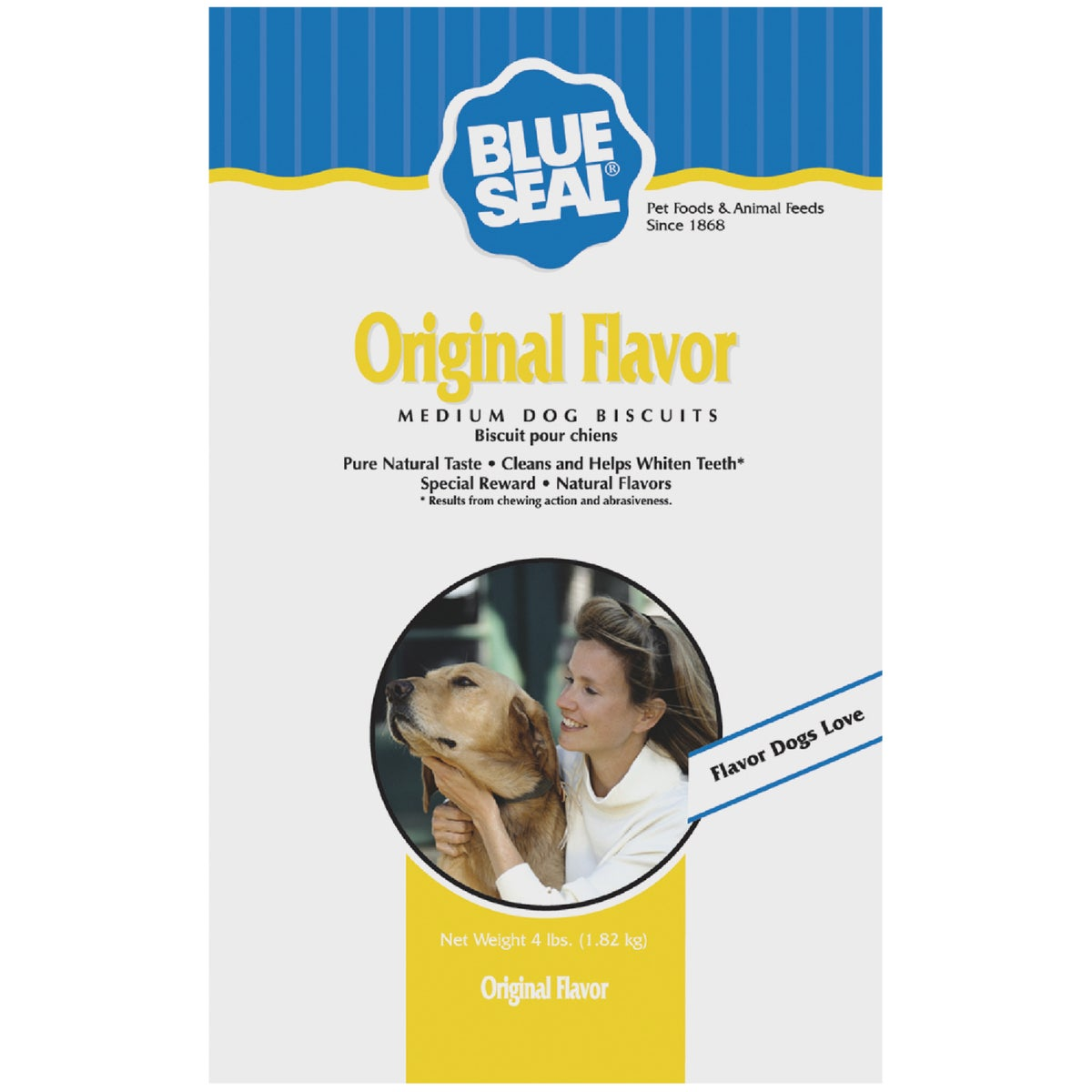 Kent Nutrition Blue Seal Original Flavor Medium Dog Biscuit 4 lbs.