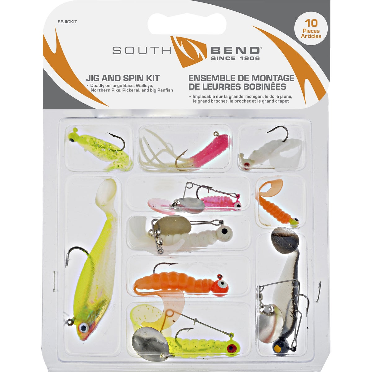 LUNKER JIG SPINNER KIT - KIT-1 by South Bend Sptg Good