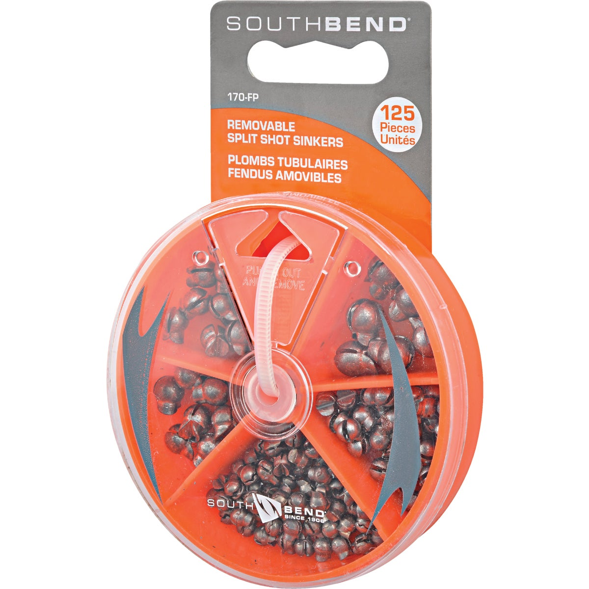 ASSORTED SPLIT SINKERS - 170-FP by South Bend Sptg Good