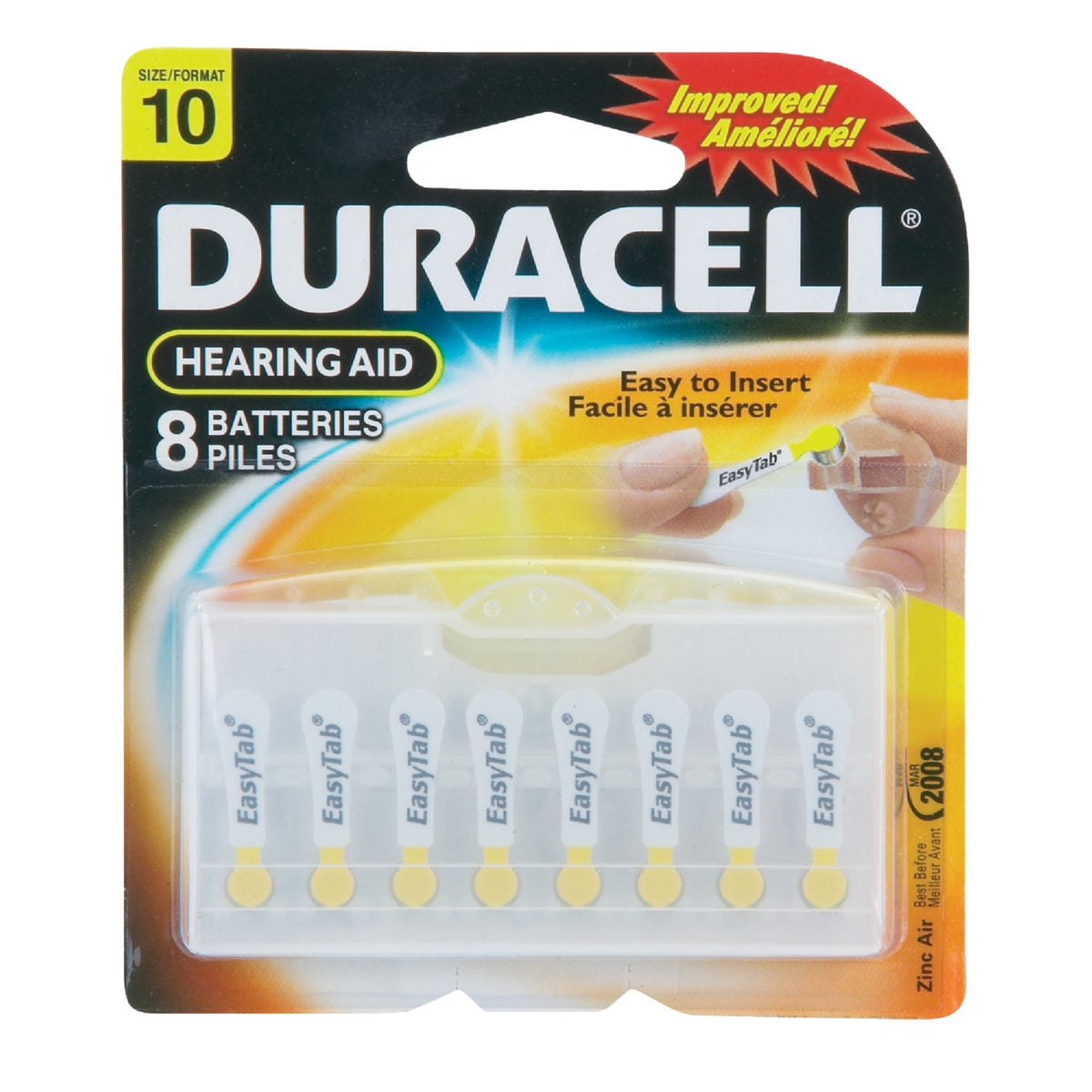 DA10 1.4V HR AID BATTERY - 90387 by P & G  Duracell
