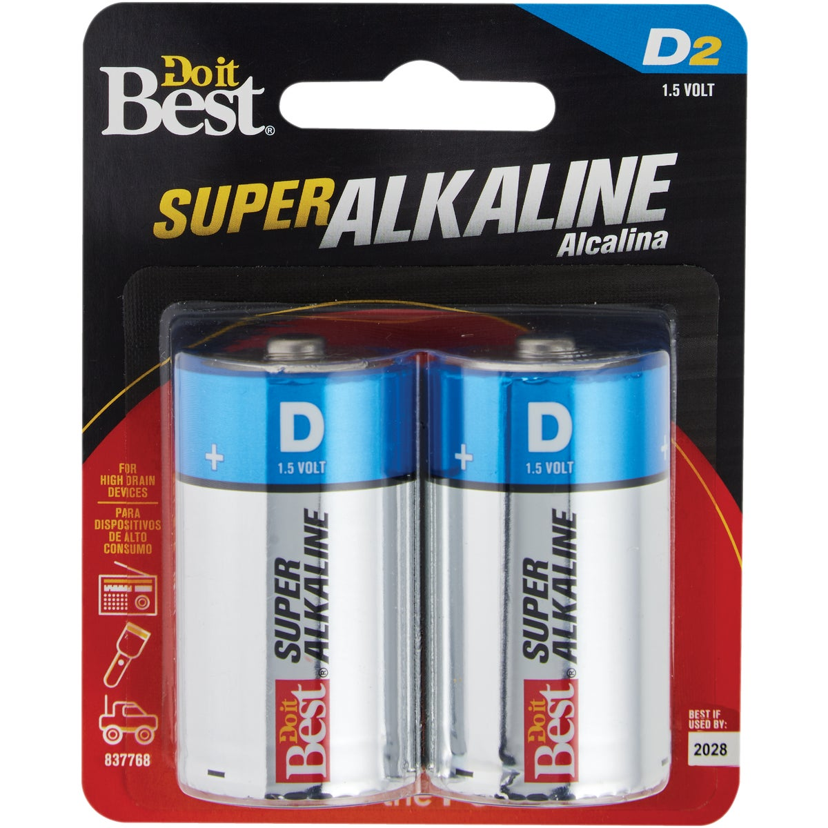 2PK DIB D ALK BATTERY
