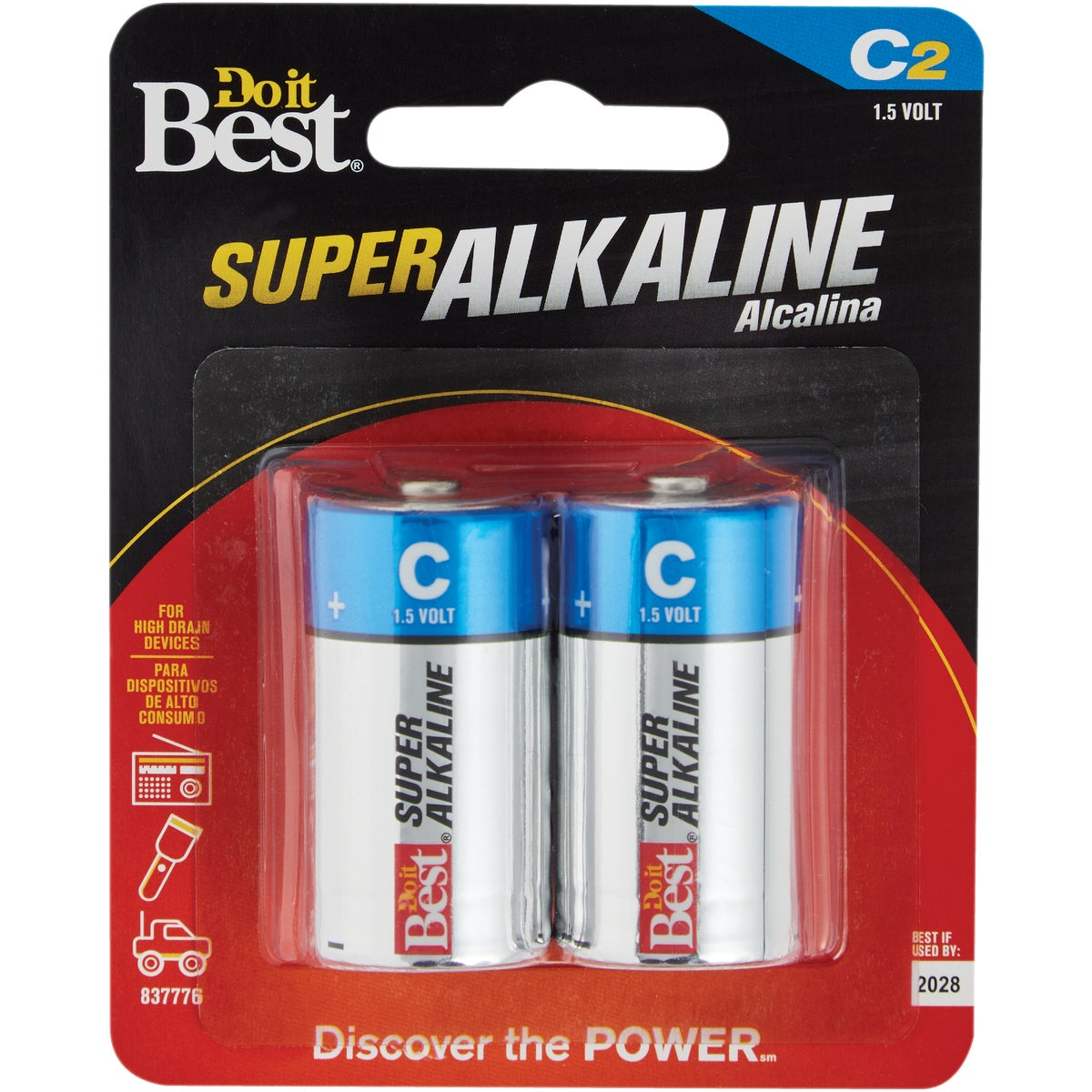 2PK DIB C ALK BATTERY