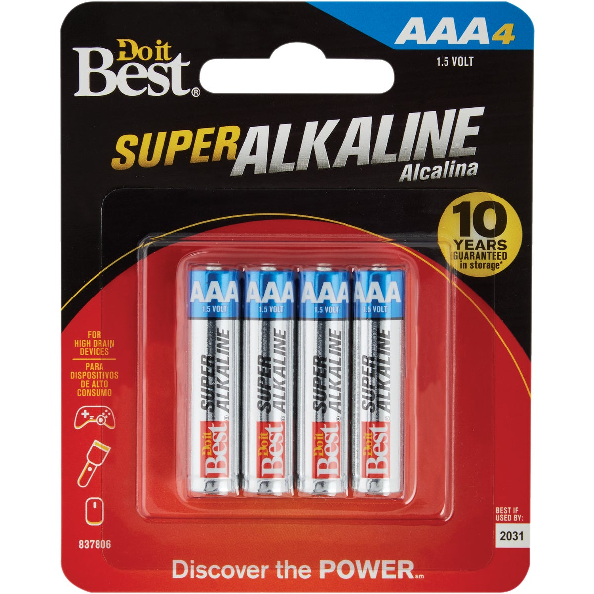 4PK DIB AAA ALK BATTERY