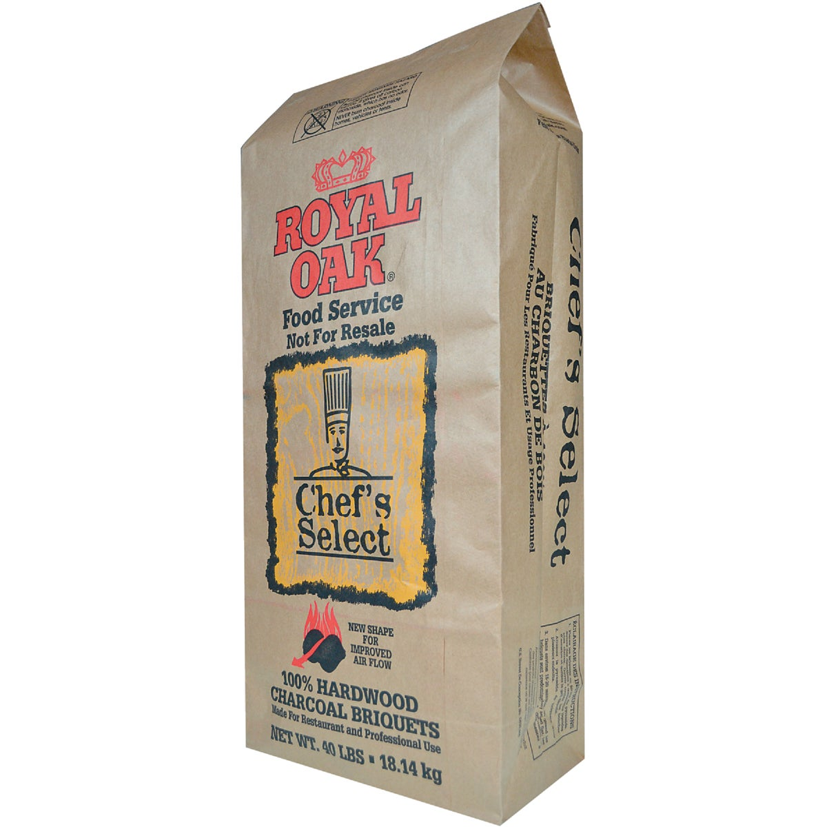 40LB BRIQUETTE CHARCOAL - 192-104-026 by Royal Oak