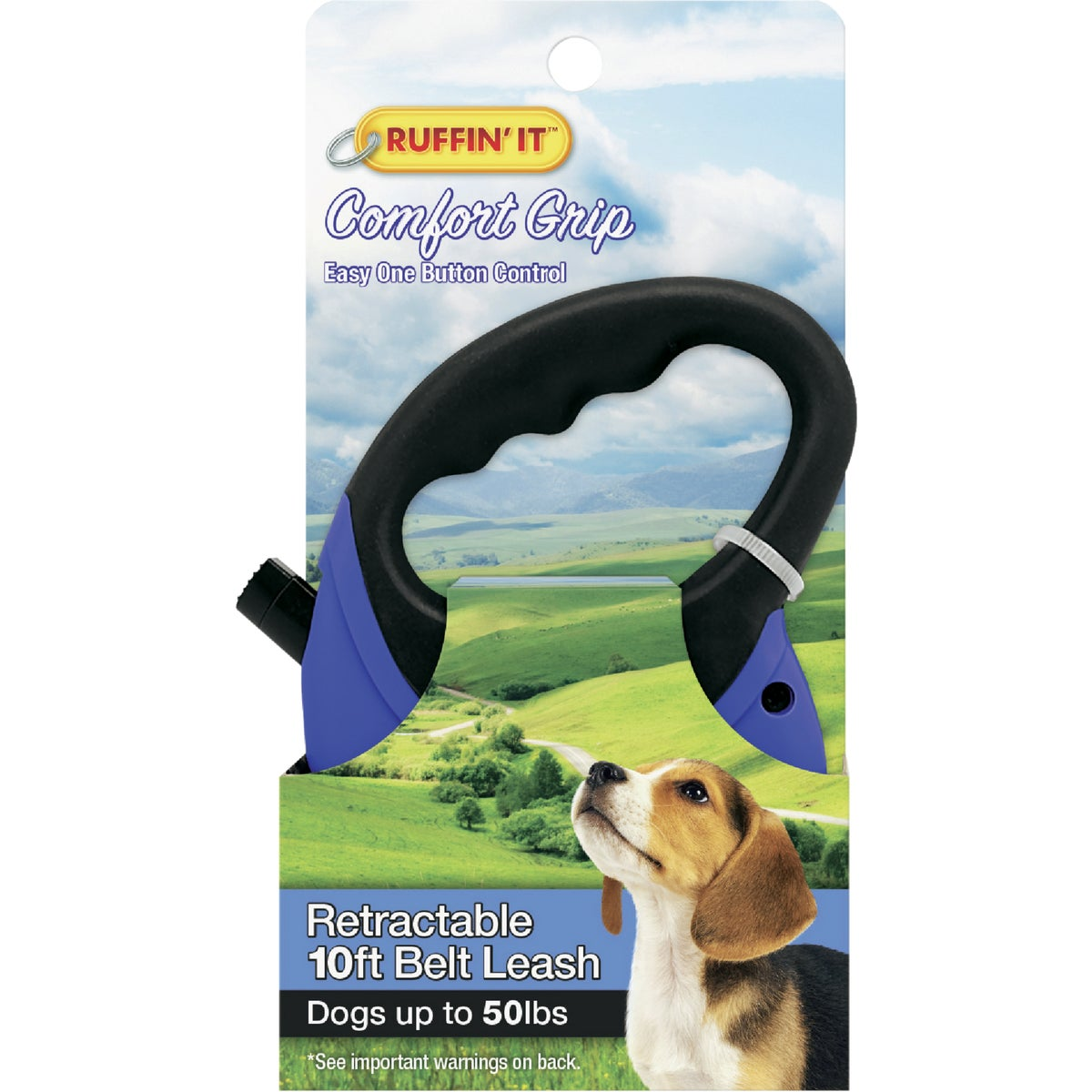 SM BLK RETRACTABLE LEASH