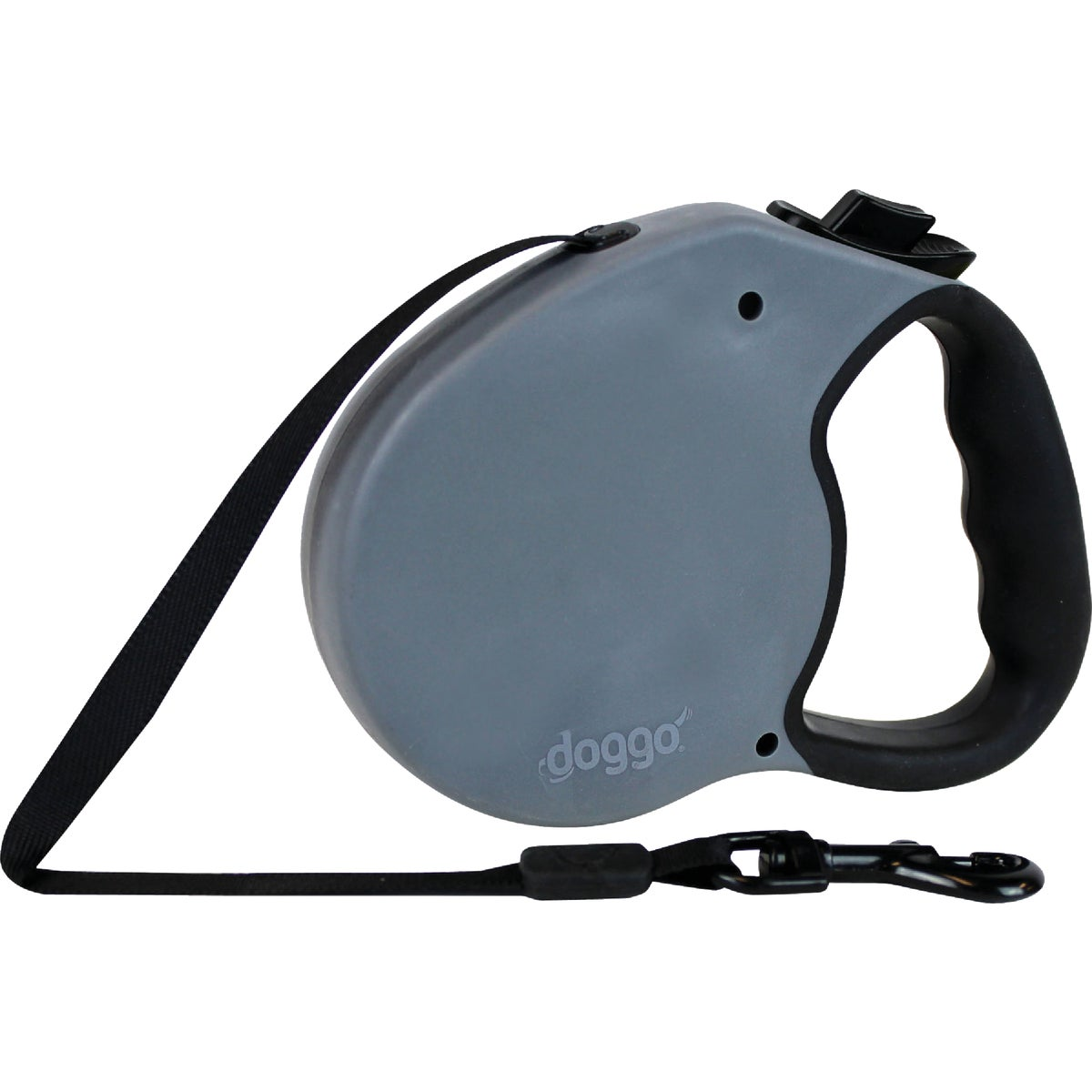 LG BLK RETRACTABLE LEASH