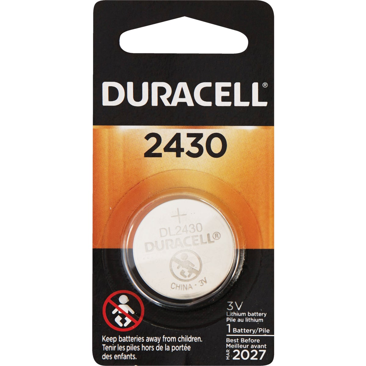 DL2430 3V MED BATTERY - 44087 by P & G  Duracell