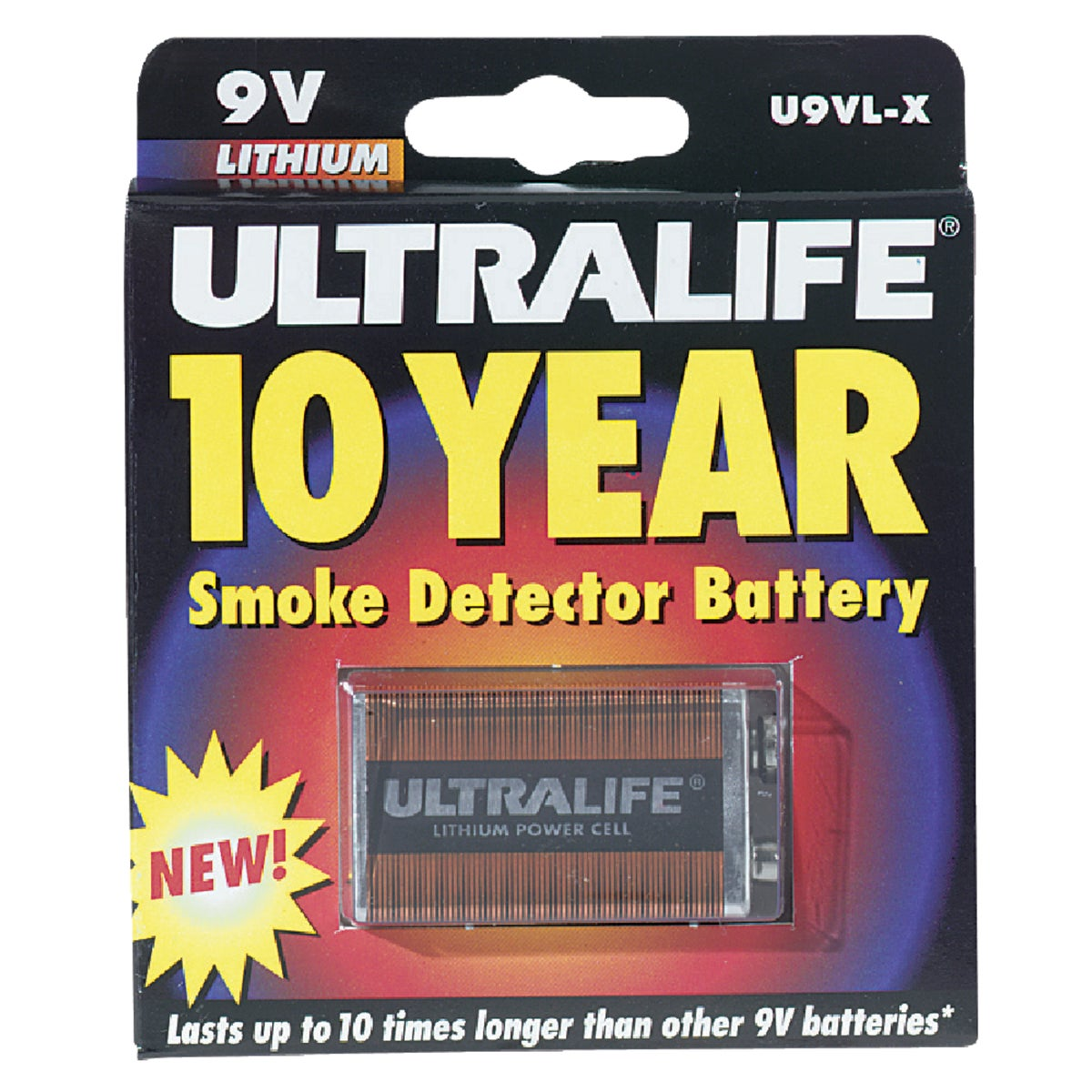 9V LITHIUM BATTERY - U9VLJPX by Ultralife Batteries
