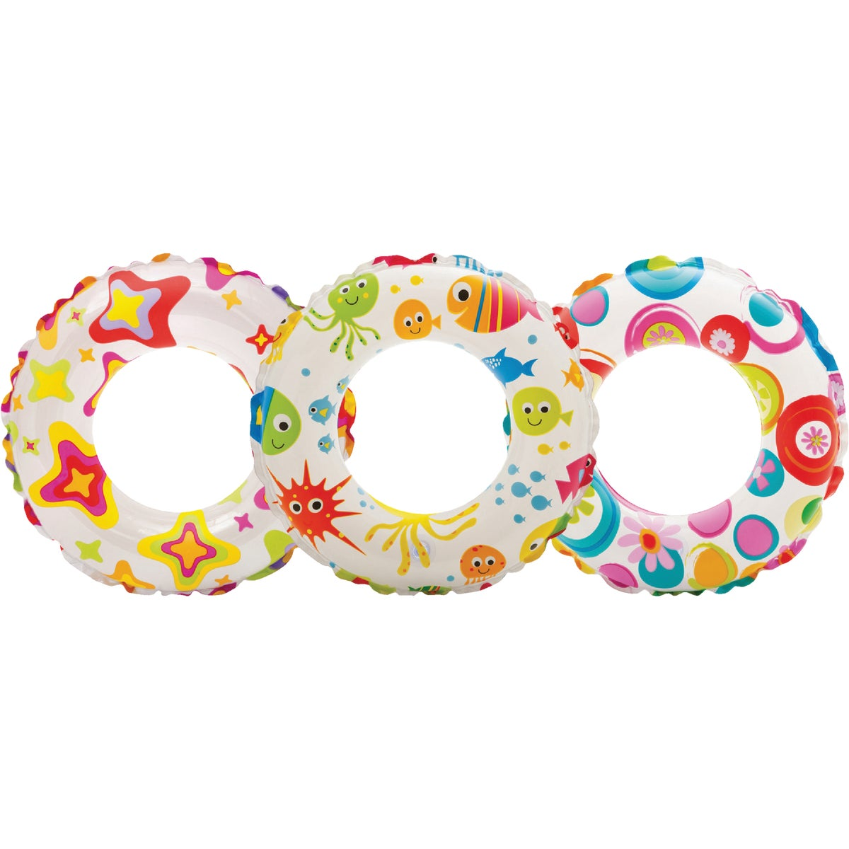 LIVELY PRINT SWIM RINGS - 59230EP by Intex Recreation