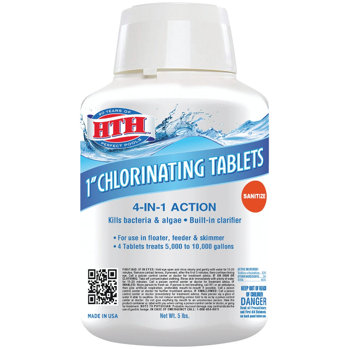 "5LB 1"" CHLORINE TABLETS"