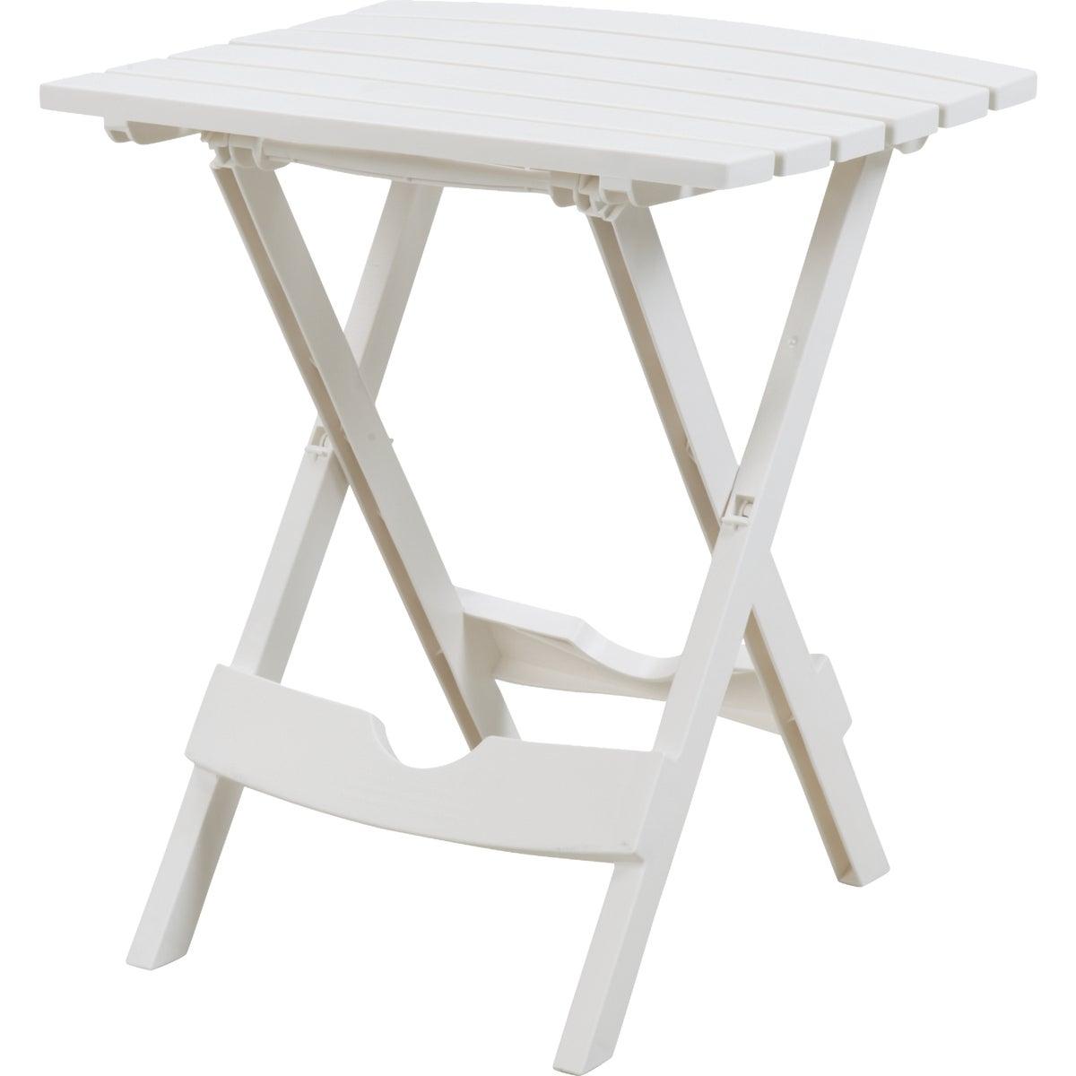WHITE QUIK FOLD TABLE - 8500-48-3731 by Adams Mfg Patio Furn