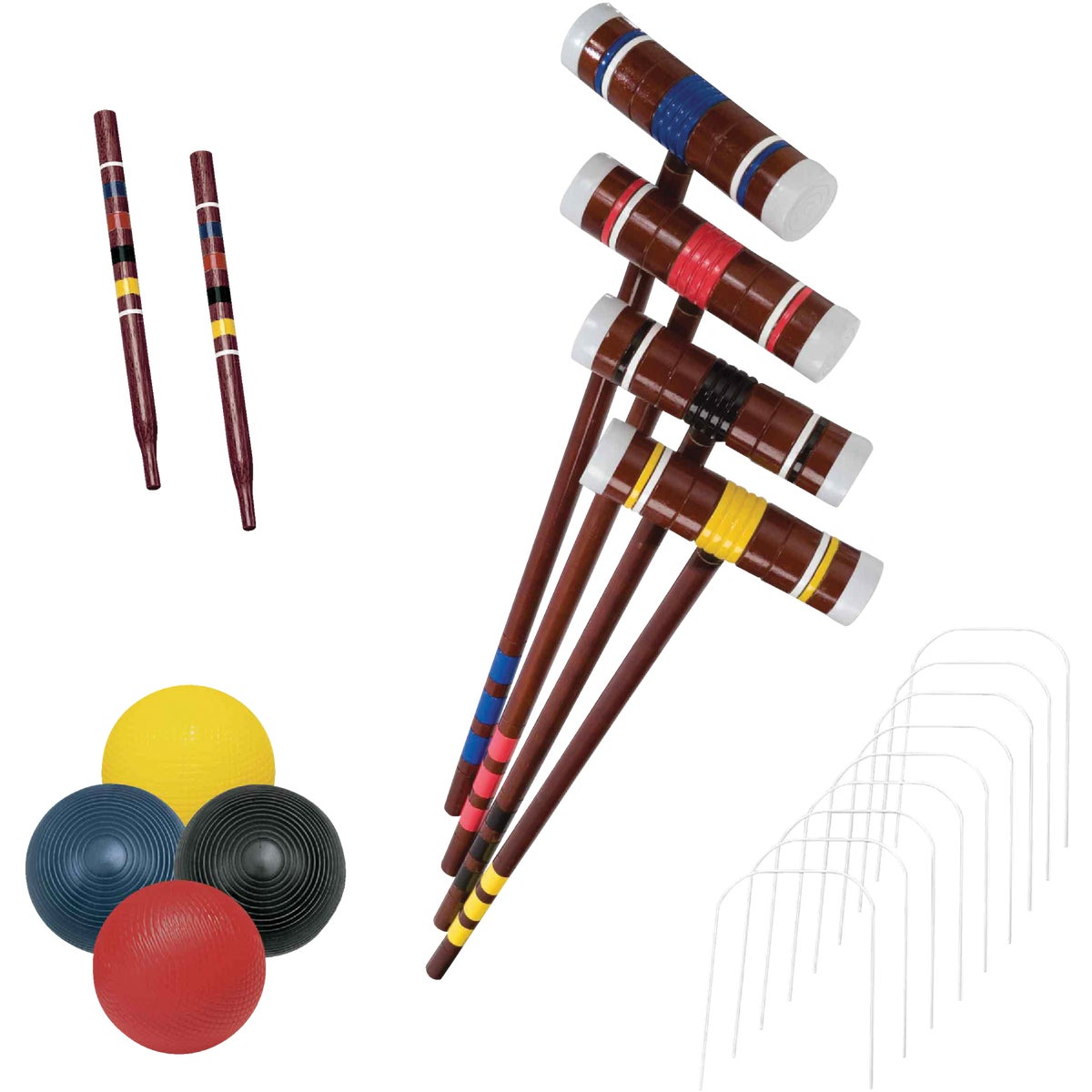 4-PLAYER CROQUET SET - 50200 by Franklin Sports