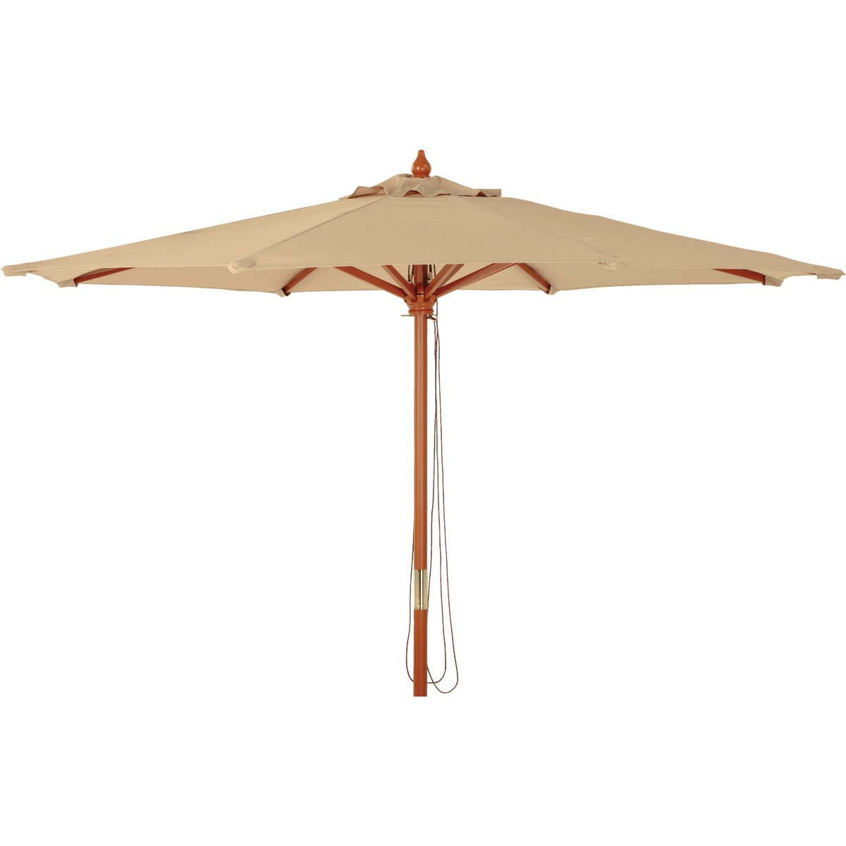 9'TAN WD MARKET UMBRELLA - TJWU-003A-270-TN by Do it Best