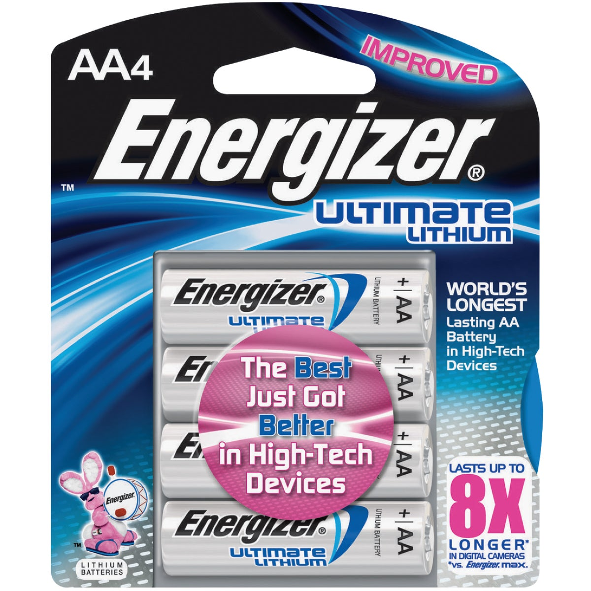 4CD AA ULT LITHIUM BTRY - L91BP-4 by Energizer