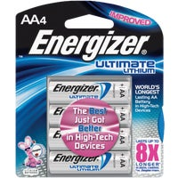 Energizer AA Ultimate Lithium Battery, L91BP-4