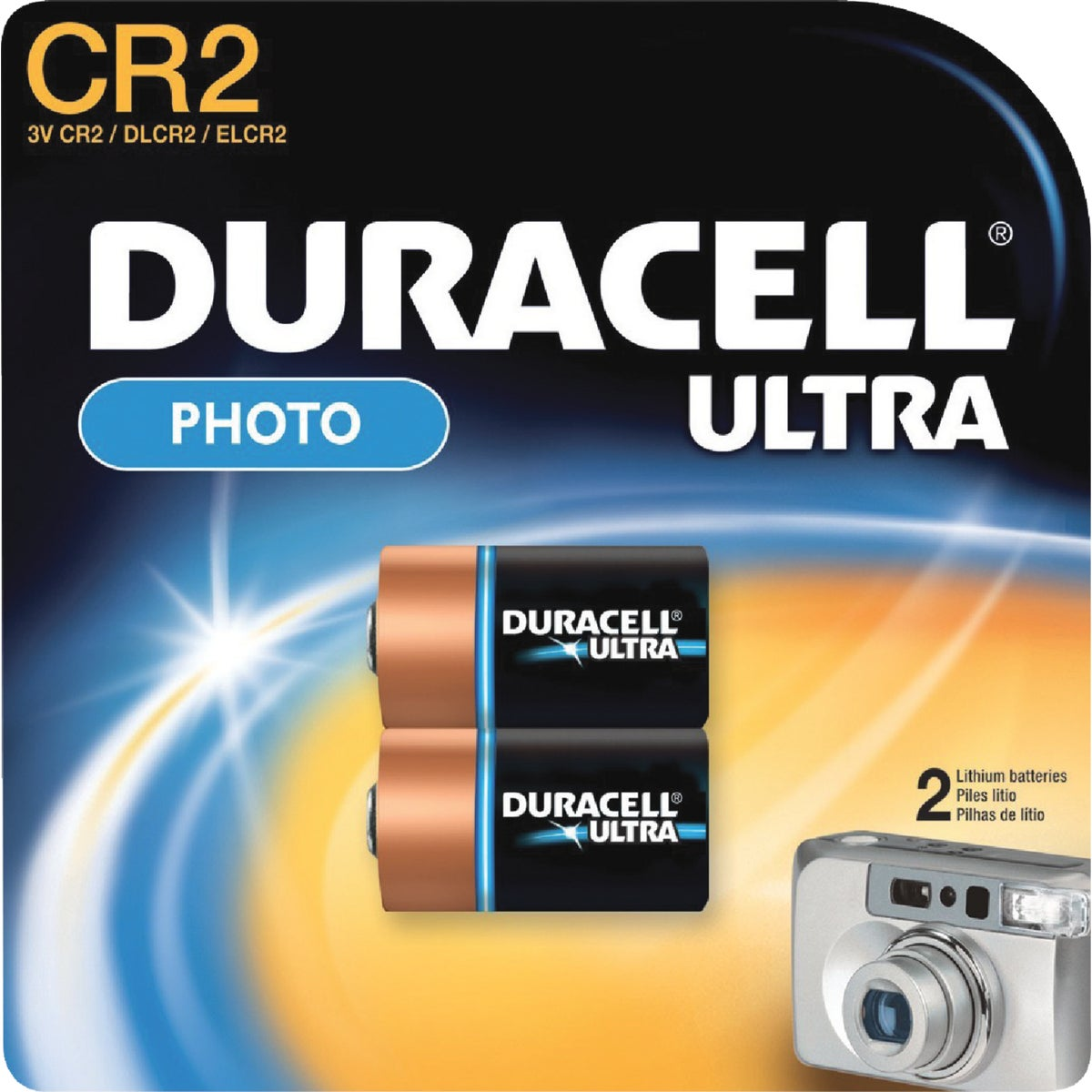 2PK CR2 3V CAM BATTERY - 28387 by P & G  Duracell